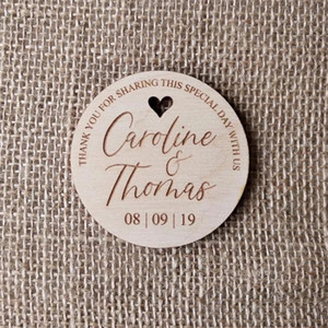 20pcs wedding save date card Wood tags wedding favors bride groom gift personalized laser cut round heart tags 10cm diamater customized word