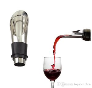 High Quality 2 In 1 Wine Stopper Red Wine Pouring Tool Stainless Steel Wine Bottle Stoppers Funnel Pourer Wines Bottle Pourer