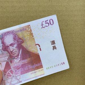 2020 Hot New Style Atacado Bar Atmosfera Prop Prop Dinheiro 50 Libra UK Libra Falso Money Billet Prop Money-268