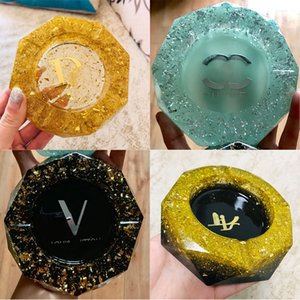 Luxurys designers Crystal glass octagonal ashtray High quality creative personality fashion exquisite craft home decoration ashtray