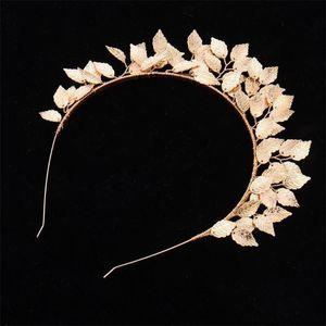 Аксессуары для волос Tiaras и Crowns Wedding Bridal Женщины Листья Листья Laurel Греческий Римский Костюм Урожай головной убор