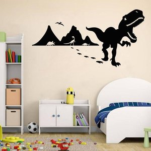 Dinosaur Wall Decal Kids Boys Bedroom Nursery Home Decoration Vinyl Wall Sticker Brave Adventure Cartoon Mural Art 1794