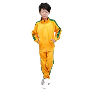 Custom Band kids Tracksuit Running Set Gym Training Sportswear Set Boys Long Sleeve Casual Sports Coat Suit