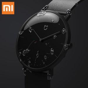 Xiaomi Mijia Quartz Quartz Smart Watch Life Impermeabile con Doppia Dial Dial Alarm Sport Sensore Pedometro Tempo Pelle Time Band MI HOME APP 201024