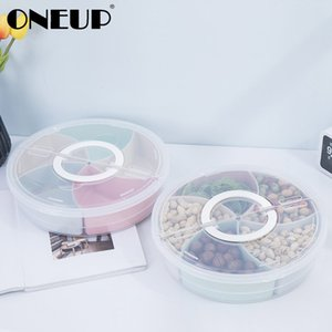 ONEUP Plastic Snack Candy Storage Box With Lid Christmas Gift Wedding Party Decoration Fruit Melon Seed Nut Holder Storage Box Z1123