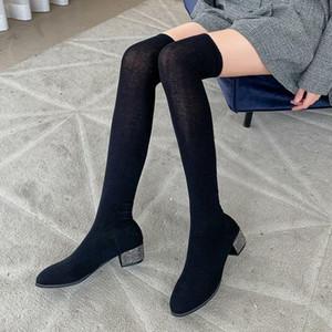 Scarpe rock donna stivali invernali signora sexy tacchi alti tacchi alti alto sexy piattaforma rotonda boots-toe boots-donne designer di lusso