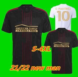 S-4XL 2021 2022 MLS أتلانتا يونايتد FC لكرة القدم جيرسي البيت الأبيض 21 22 G.Martinez مارتينيز ناجبي باركو فيلالبا القمصان موحدة كرة القدم