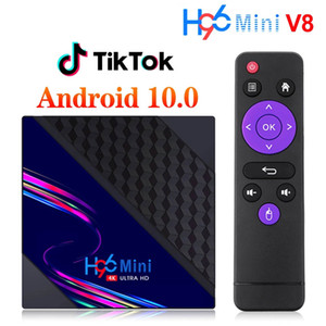 H96 Mini V8 Smart TV Box Android 10 2GB 16GB Support Tik Tok Media Player Set top Box 2.4G Wifi RK3328A Android TVBOX