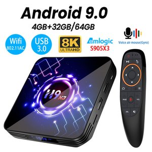 H9 X3 Android 9.0 TV BOX Amlogic S905X3 4GB 64GB 32G 8K 4K UltraHD HDR 5G wifi 1000M Youtube fast TV BOX