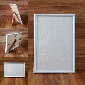 Jigsaw Image Cadre Sublimation Blanches En plastique Lettre Solids Couleurs Love Coeur Cadre Livre Livre Étagère Polygone Polygone Artefact populaire 5ZH L2