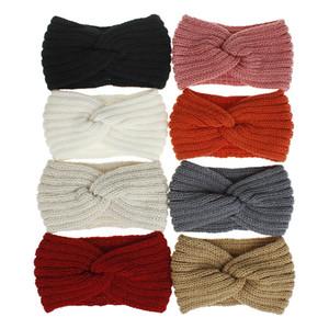 DHL Shipping Cable Crochet Headbands for Women Winter Warm Ear Warmer Soft knit Knit Wool Headband Elastic Turban Hair Bands Kimter-B306F