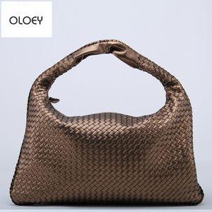 OLOEY New classic women woven Star model imitation sheepskin dumpling Casual fashion shoulder bag Large capacity handbag Q1118