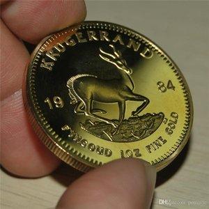 Envío gratis 20pcs / lot, 1984 Sudáfrica 1 Oz Gold Krugerrand Copia inculcada Moneda