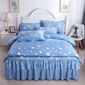 designer bed comforters sets Print Cotton Bedding Set Designer 1*Bed Sheet Fashion Cotton Cover Pillow Cases Classic Soft Duvet Cover 165 G2