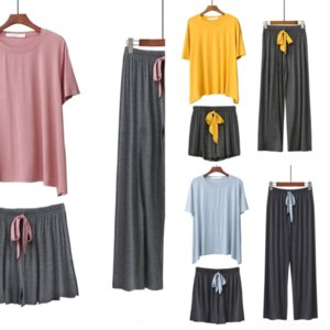 HTF Top Pyjamas Lady Silk Pyjamas Acryl Frauen Mode Dessous BH Boxer Set Neue Hängende Hals Spitze Hohlweste Sexy Unterwäsche Damen FTEE