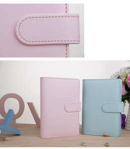 A6 8 Colors Creative Waterproof Macarons Binder Hand Ledger Notebook Shell Loose-leaf Notepad Diary Stationery Cover School Office