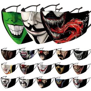 Maschera per la maschera per gli uomini Maschere da stampa da donna Maschere di stampa Designer antipolvere antivento antivento e foschia sostituibile PM2.5 Filtro bocca Facemask in magazzino