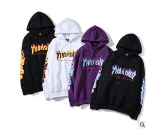 Thrasher Erkek Tasarımcı Hoodies Moda Erkekler Kadınlar Rahat Ceket Erkek Sonbahar Kapüşonlu Hoodie Gevşek Kazak 8 Renkler