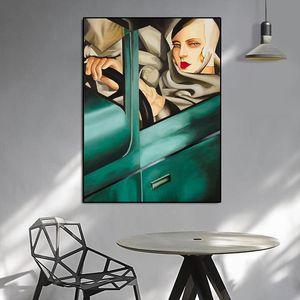 Arte da lona Artista Tamara de Lempicka Classic Artwork Reprodução Pôsteres e impressões de parede para decoração