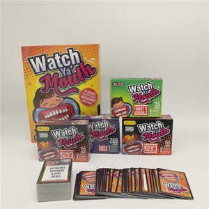 Party Game Board Game Watch Ya Mouth Game 200 cards 10 mouthopeners Family Edition Hilarious Mouth Guard