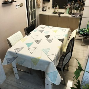 Modern Simple Tablecloths Geometric Microwave Oven Dustproof Mat Dining Table Cover Writing Table Cloth for Home Decor