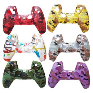 Dustproof Scratch-resistant Camouflage Colorful Printing Soft Silicone Protective Case Cover for Playstation PS5 Game Controller Gamepad