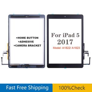 لباد Air 1 iPad 5 2017 A1822 A1823 شاشة تعمل باللمس محول الأرقام زجاج مع زر استبدال لوحة ملصق