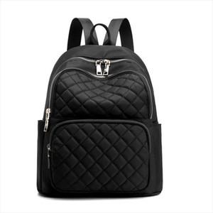 2019 new brand large capacity waterproof nylon ladies backpack high quality student bag ladies diamond plaid backpack