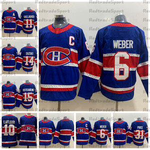 2021 обратный ретро синий монреаль Canadiens Catchy Price Price Shea Weber Gallagher Droouin Jesperi Kotkaniemi Nick Suzuki Matt Lafleur Hockey Jersey