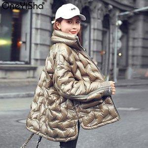 Oneyisha Carrinho Colarinho Canto Down Down Parkas Branco Pato Solto Feminino Curto Down Outerwear Digite World Winter Jacket para Women1