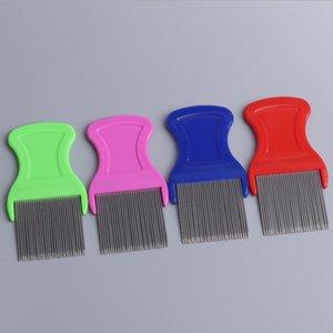 Chiens chat animaux domestiques cheveux puces lice nit peigner animal de compagnie casse-poussière trou poussière dissolvant acier inoxydable toilettage brosses de dents YHM218