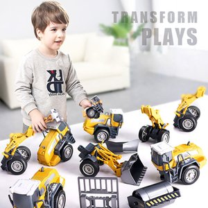 Tractor Car Kids Toy Model Forklift Excavator Dump Truck Truck Truck Crane Engineal Sley Metal Plastiect Diecast Classic Forse Подарок мальчик Z1124