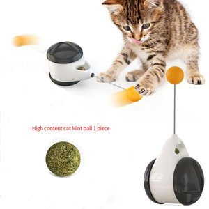 Cat Toy with Wheels Automatic Rotating Toy cat teaser ball interactive nip catnip No need recharge Funny New