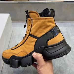 Shaspet New Fashion Boots For Men Leather Mens Casual Shoes Rubber Platform Leather Mens Work Boots Plus Size Hot Tattoo Sneaker