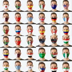 Дизайн флаг маски 3 слоя моющиеся повторные настраиваемые настраивают пыленепроницаемый рот крышка маски дизайнерская партия маска оптом
