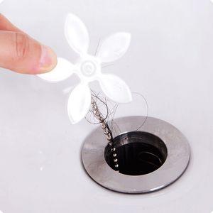 Abflussrohr Haarfänger Stopper Clog Blume Form Küche Badezimmer Waschbecken Badewanne Abwasserfilter Anti-Blocking Werkzeug Haarentferner DHD3392