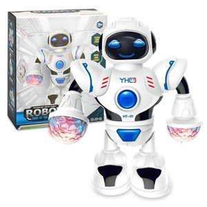 Electric dancing robot toy LED light music dancing robot toy model 001