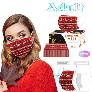 10 50pcs Disposable Non-woven Fabric Mask Face Mask Fashion Breathable 3 Layers Mouth Cover Mascarillas