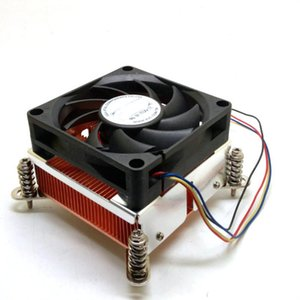 2U 4PIN CPU copper radiator 50mm 1150 1151 1155 1356 1366 2011 double ball fan CPU Heatsink fans and cooling for intel