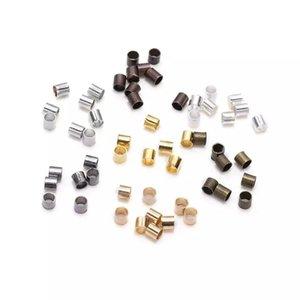 500pcs 1.5 2.0 2.0 2.5mm Tubo de Cobre de Ouro Crimp Beads End Beads Spotper Beads para Jóias Faça Findings Supplies Colar