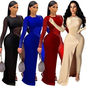 Felyn 2021 in Internet Celebrity Famose salviette Sparkly Sparkly Diamond Mesh Patchwork Sexy Night Club Tutelle