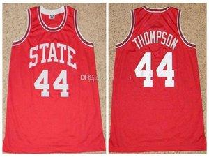 # 44 David Thompson NC State Wolfpack College Retro Classic Basketball Jersey Hombre cosido Nombre personalizado Nombre Jerseys