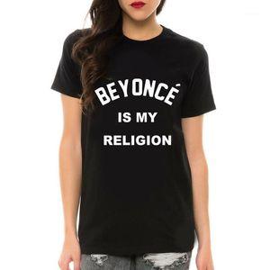All'ingrosso-beyonce è la mia lettera di stampa divertente per la maglietta femminile manica corta nera bianca grande tees camicie femme camisetas mujer1
