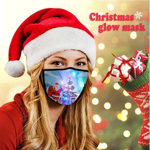 Christmas Luminous Mask 40 Colors Changing Glowing LED Face Mask For Halloween Masquerade Adult Masks GWA2759