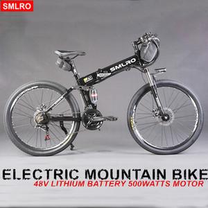 26 pouces d'alliage d'aluminium d'alliage d'aluminium d'alliage d'aluminium 48V Batterie au lithium 500W Moteur Smart Plolt Vélo de montagne électrique longue Rang a bike