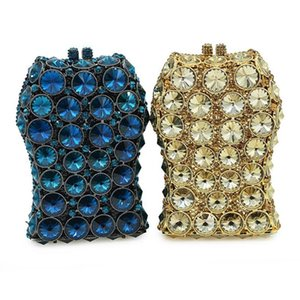 Moda Altın Rhinestone Düğün Debriyaj Çanta Xiyuan Kristal Parti Çanta High-end Bayanlar Elmas Çanta Kadın Zincir Omuz Çantaları