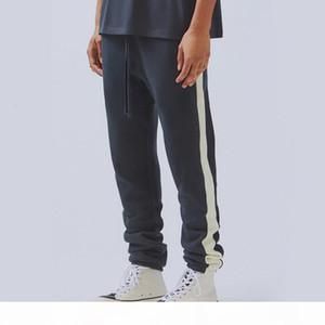 19SS Fear Of God FOG Essentials Sweatpants Vintage Color Matching Splice Trousers Fashion Men Women Sport Pants Outdoor Fitness HFHLKZ028