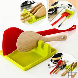 Küchengeräte-Regal-Löffel-Halter-Stand-Kunst-Kunststoff-Schaufel-Schaufel-Rest für Pot-Cover-Besteckspatel-Halter-Rack Küchenzubehör Meer GWC4677