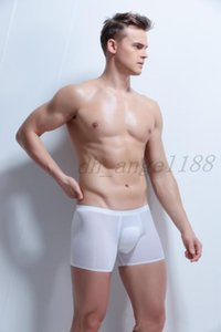 Mens underpants Seamless Ice Silk Breathable male underwear super smooth drying fast man boxer shorts special for business man 3XL