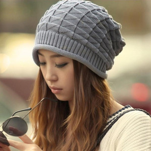 New Korean Winter Hats For Women Men Bonnet Oversized Slouch Twist Hat Thick Warm Caps Mens Casual Knitted Beanie Cap